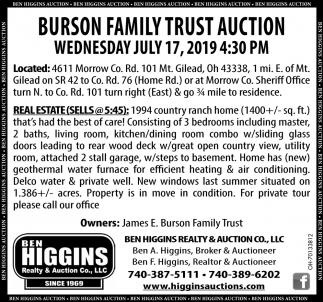 Burson Family Trust Auction