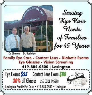 Serving Eye Care Needs of Families for 45 Years