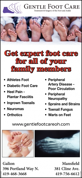 Get expert foot care for all of your family members