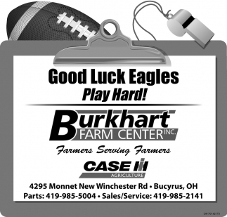 Good Luck Eagles - Play Hard!