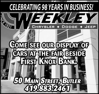 Celebrating 98 years in business