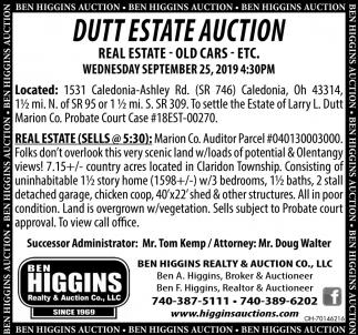 Dutt Estate Auction - september 22