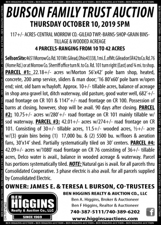 Burson Family Trust Auction - October 10