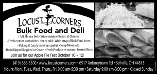 Fulls Dervice Deli ~ Wide variety of Meals & Cheeses