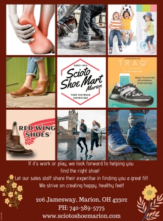 If it's work or play, we look forward to helping you find the right shoe!