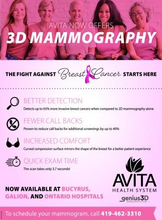 Avita now offers 3D Mammography