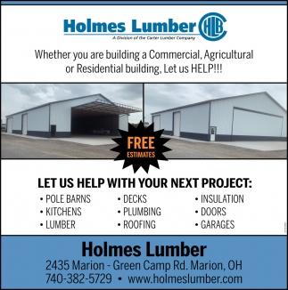 Whether you are building a Commercial, Agricultural or Residential building. Let us Help!