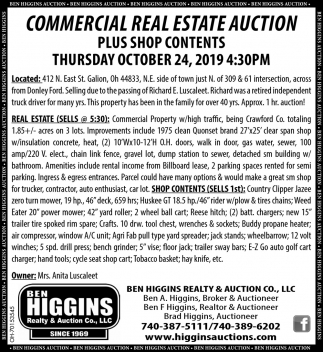 Commercial Real Estate Auction - October 24