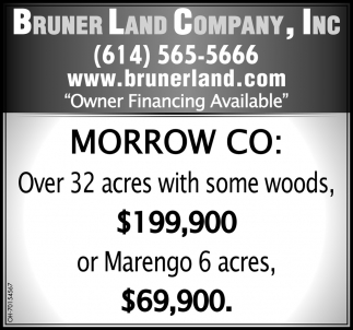 Over 32 acres with some woods, $199,900 or Marengo 6 acres