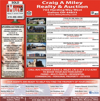 Upcomings Auctions 2019