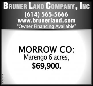 Morrow CO: Marengo 6 acres $69,900