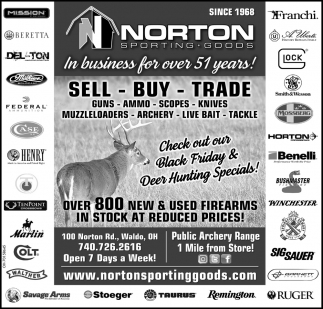 Check our our Black Friday & Deer Hunting Specials!