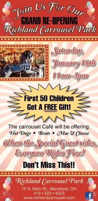 First 50 Children Get A Free Gift!