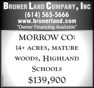 Morrow CO: 14+ Acres, Mature Woods, Highland Schools $139,900