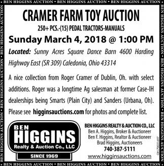 Cramer Farm Toy Auction