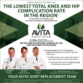 Your Avita joint replacement team