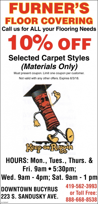 10% off selected carpet styles