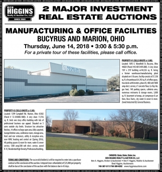2 Major Investment Real Estate Auctions