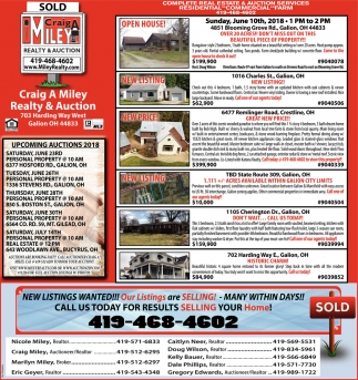 Upcoming Auctions & Homes for Sale