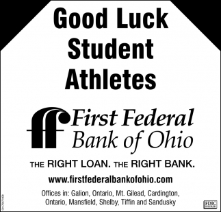 Good Luck Student Athletes