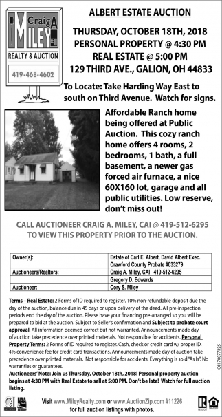 Albert Estate Auction