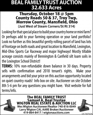 Beal Family Trust Auction