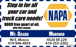 Stop in for all your car and truck care needs!