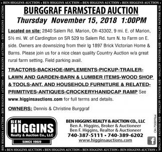 Burggraf Farmstead Auction