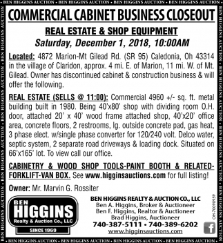 Commercial Cabinet Business Closeout