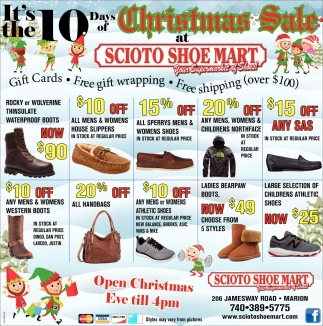 10 days of Christmas Sale