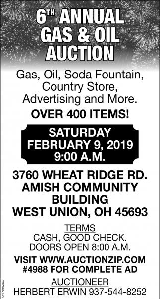 6th Annual Gas & Oil Auction