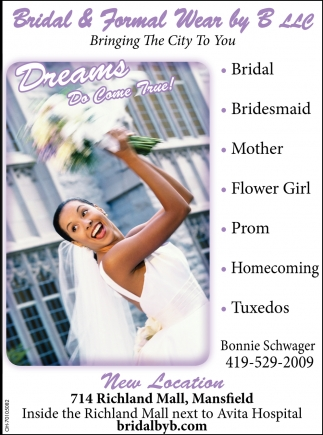 Bridal, Bridesmaid, Mother, Flower Girl, Prom, Homecoming