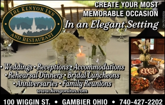 Create your most memorable occasion