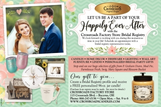 Let us be a part of your Happily Ever After