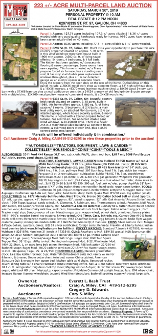 Acre Multi-Parcel Farm Auction