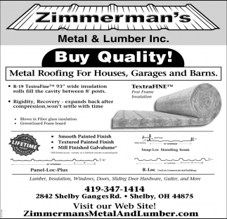 Metal Roofing For Houses, Garages and Barns