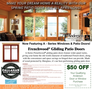 Make your dream home a realty with our spring patio door