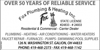 Over 50 years of reliable service