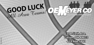 Good Luck All Area Teams!