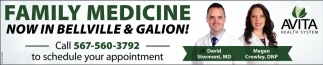 Family Medicine now in Belville & Galion!