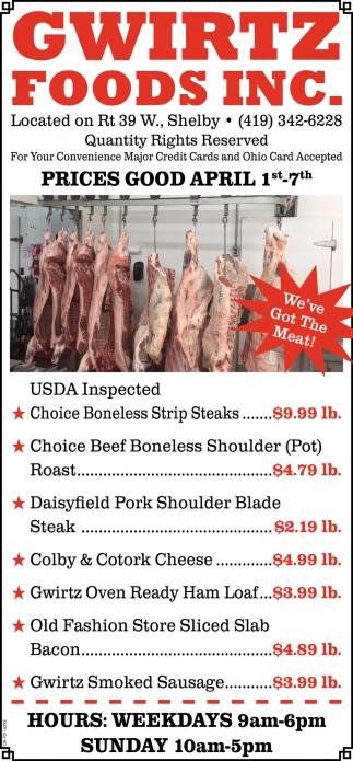 Prices Good April 1st - 7th