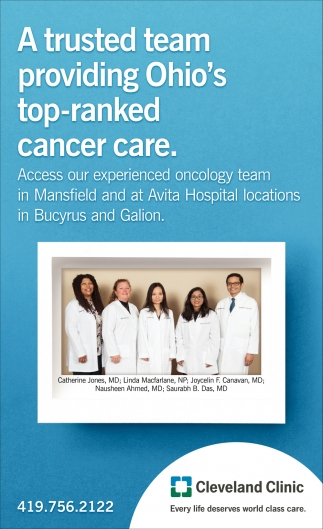 A trusted team providing Ohio's top-ranked cancer care