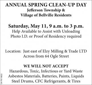 Jefferson Township & Village of Belville Residents