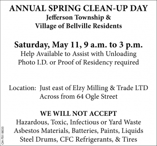 Jefferson Township & Village of Belville Residents