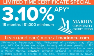 Limited Time Certificate Special