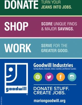 Donate Stuff. Create Jobs