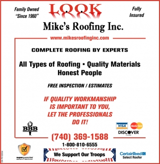 All Types of Roofing - Quality Materials - Honest People