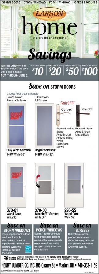 Save on storm doors