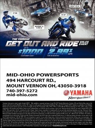 Thje Yamaha - Get Out and Ride Sales Event