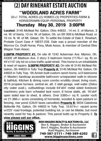 2 Day Rinehart Estate Auction